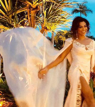 Casamento da Isis: Ju Paes usa look exclusivo de R$ 16 mil
