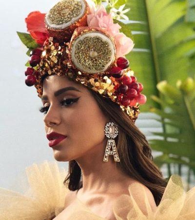 Anitta se veste à la Carmen Miranda no Rock in Rio Lisboa