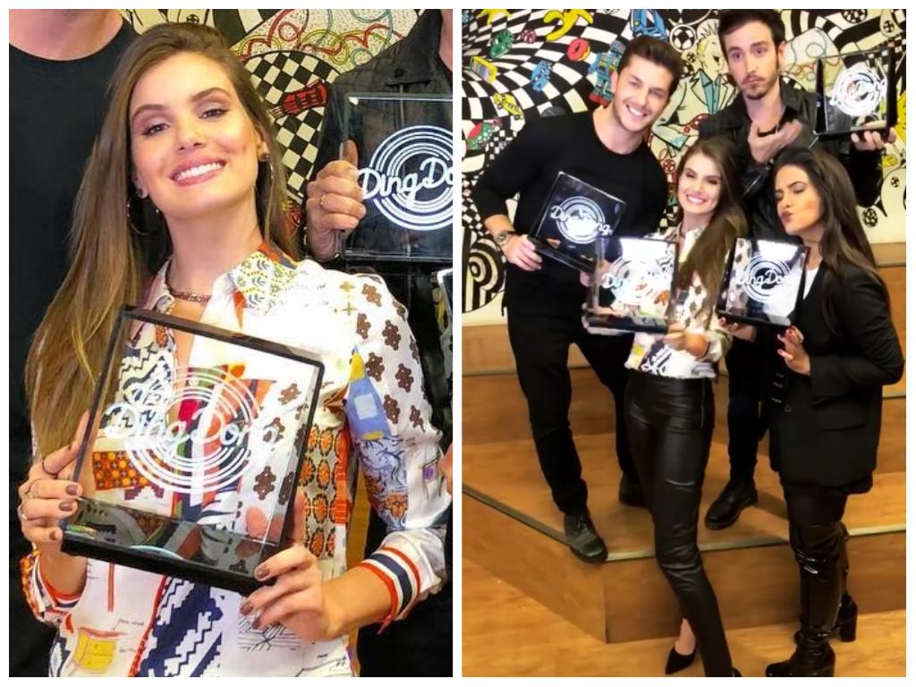 Ding Dong: Camila Queiroz usa camisa colorida de R$ 2,3 mil