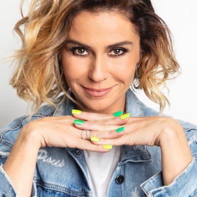 Giovanna Antonelli exibe unhas em verde e amarelo para Copa
