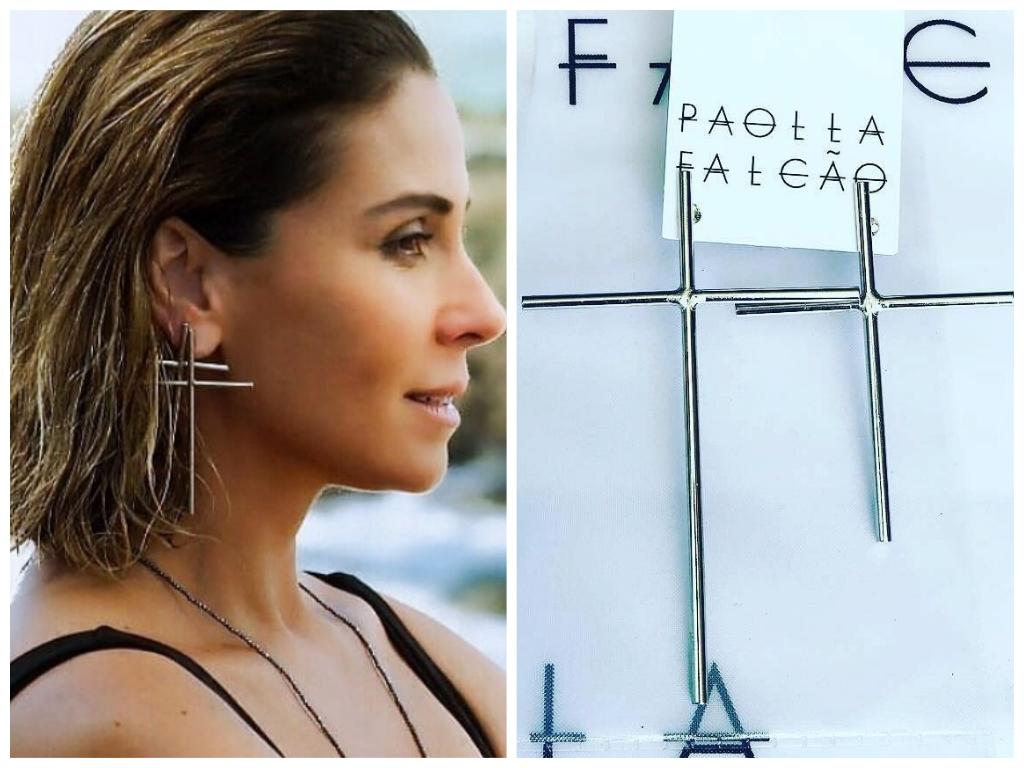 Segundo Sol: Giovanna Antonelli usa brinco de cruz de R$ 88