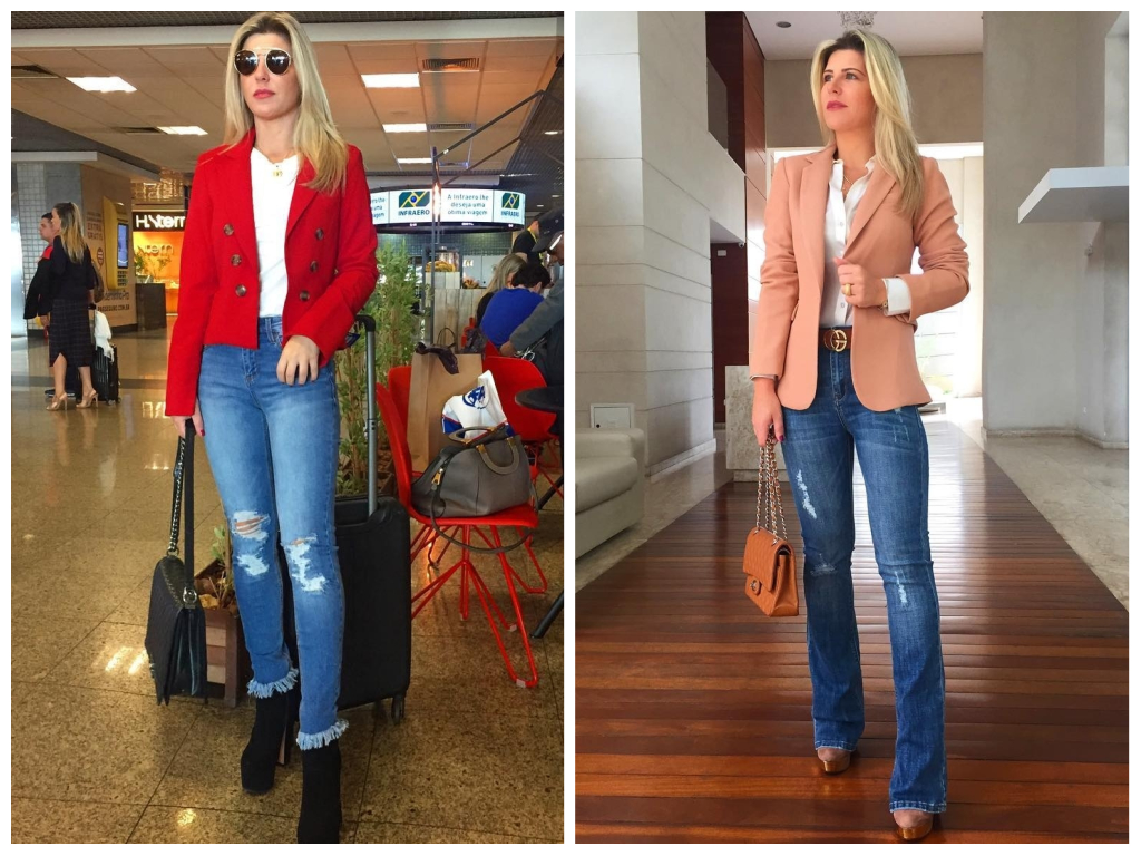 Íris Stefanelli mostra como usar blazer com calça jeans