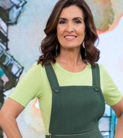 Copa: Fátima Bernardes usa jardineira que vira calça de R$ 950