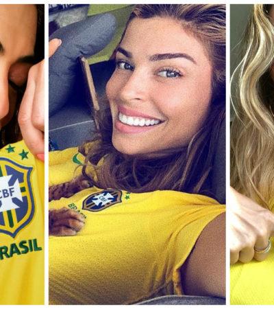 Copa: Ju Paes, Gisele e Grazi usam camiseta inspirada em 1970