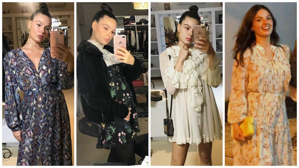 Longo ou curto? Veja 4 vestidos de 'grávida' de Isis Valverde