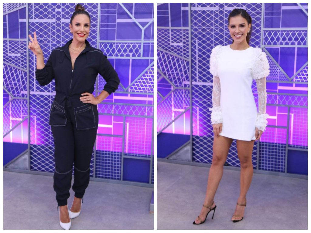 "Ivete Sangalo e Mariana Rios no ""The Voice Brasil"" (Fotos: AgNews)"