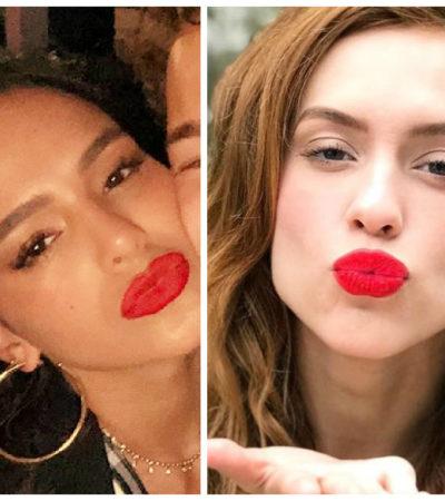 Bruna Marquezine e Sophia Abrahão arrasam no bocão vermelho
