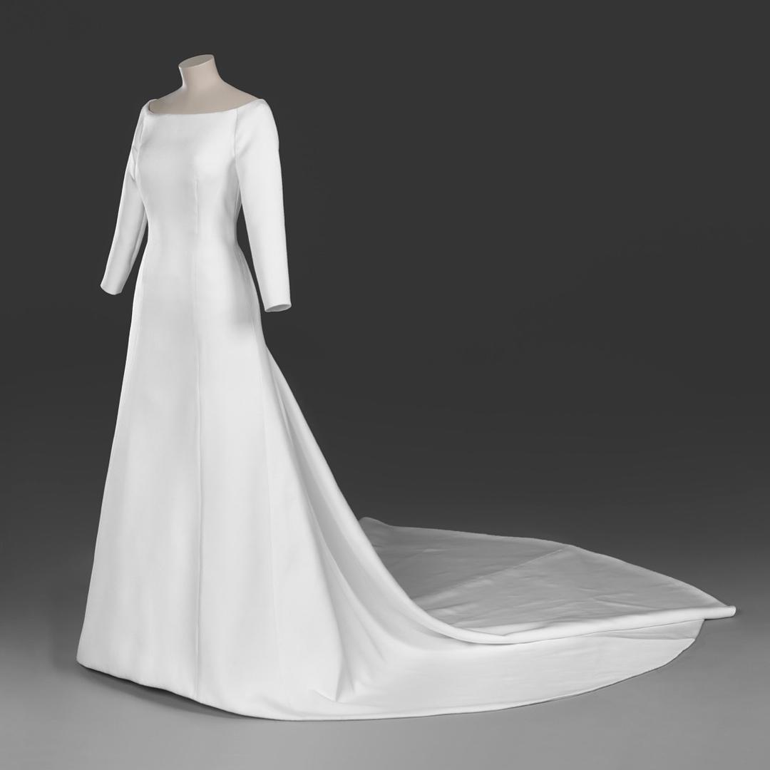 Vestido usado por Meghan Markle será exposto no Castelo de Windsor (Foto: Royal Collection Trust/Reprodução)