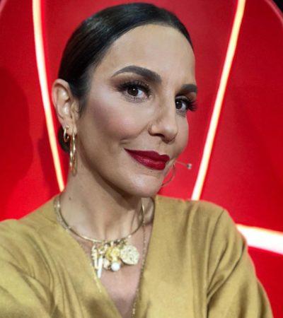 Ivete Sangalo usa macacão com efeito alongador de R$ 1,8 mil