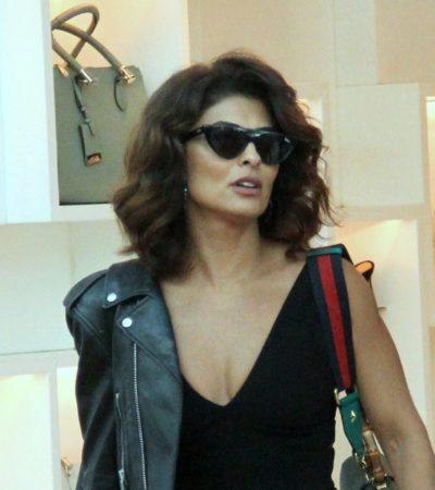Juliana Paes ensina a dar toque fashion ao look preto