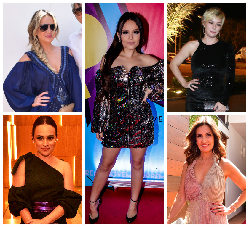 Looks das famosas valorizam os ombros (Fotos: AgNews)