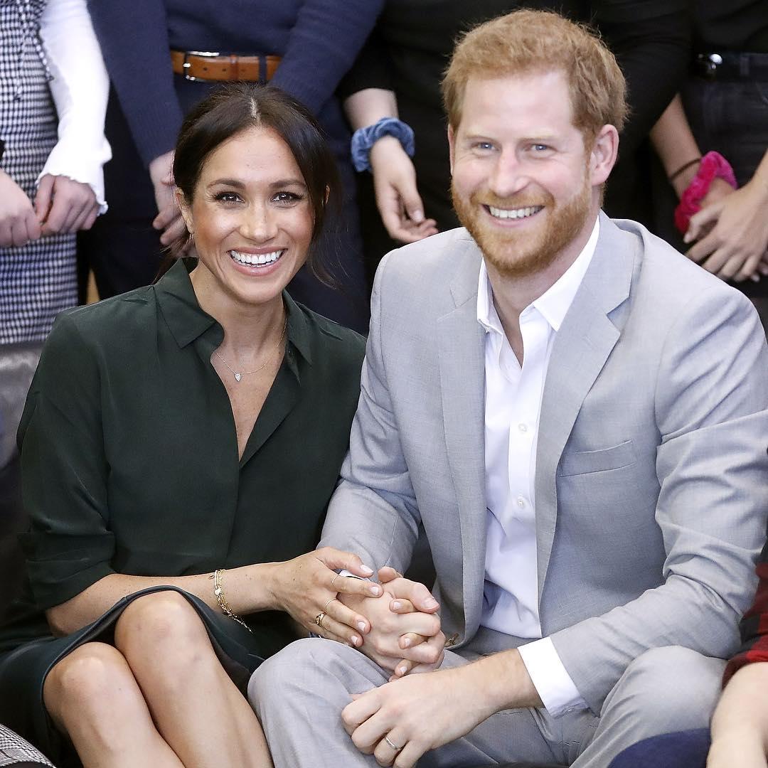 Meghan Markle e Harry em foto do post em que anunciaram sua gravidez (Foto: Reprodução/Instragram/@kensingtonpalace)