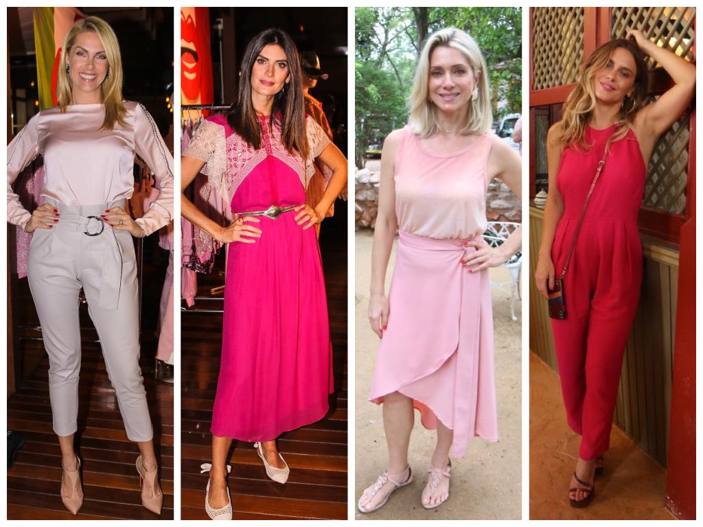 Famosas vestem rosa (Fotos: AgNews)
