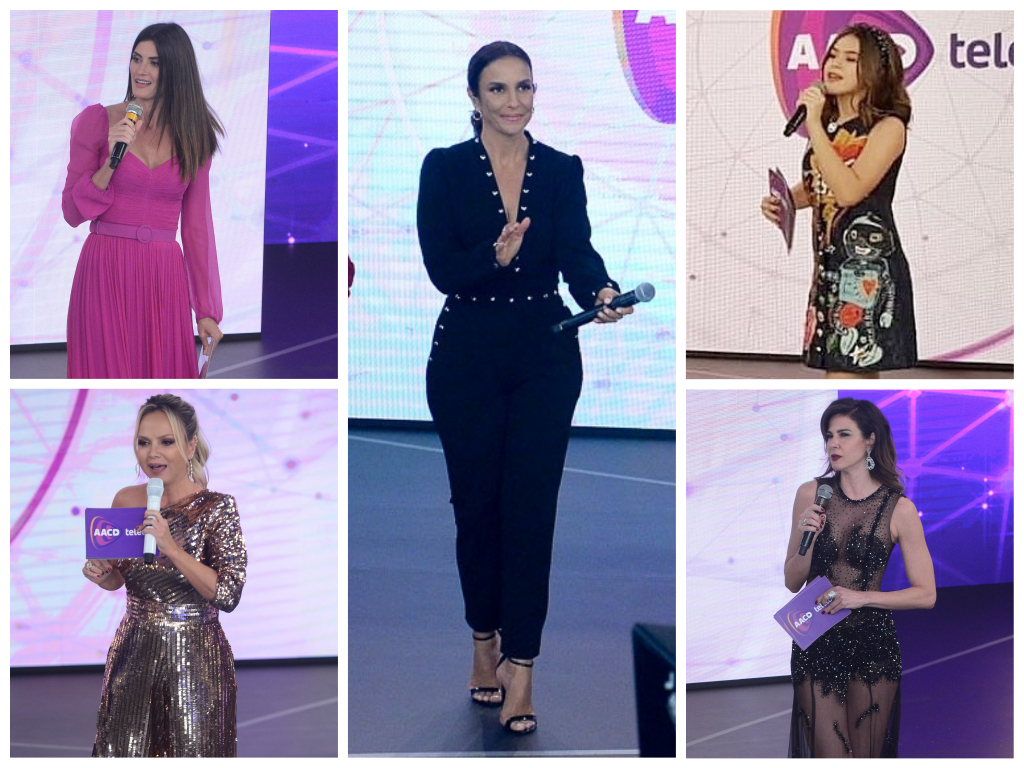 De Ivete a Maisa: Veja looks das famosas no Teleton