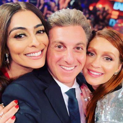 Decotão: Marina Ruy Barbosa e Juliana Paes gravam com Huck