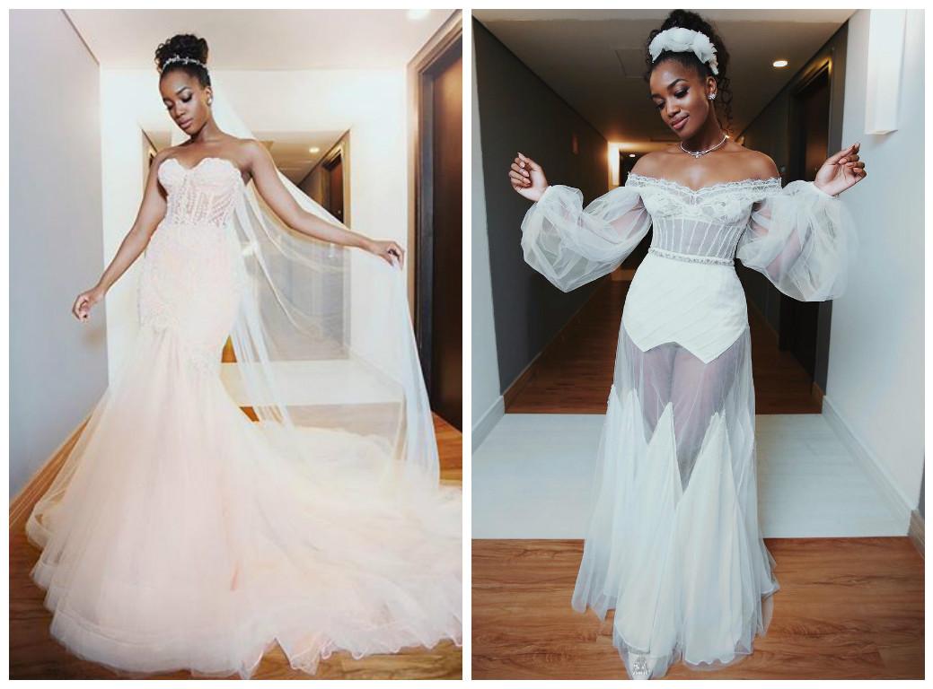 Os dois vestidos de noiva de iza (Foto: Reprodução/Instagram)