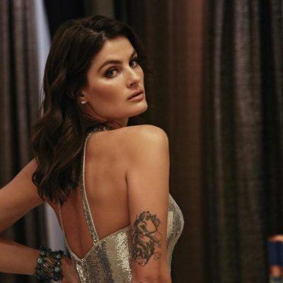 Isabeli Fontana usa look sensual em festa do Calendário Pirelli