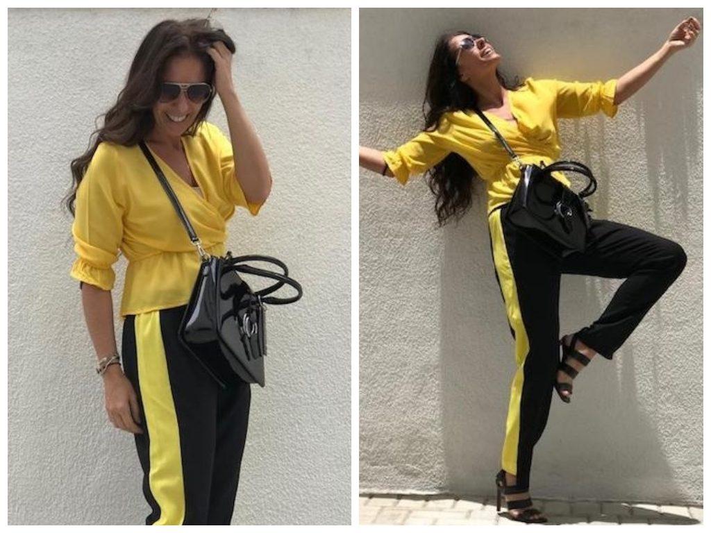 Adriane Galisteu acerta com cor amarela em look de R$ 140