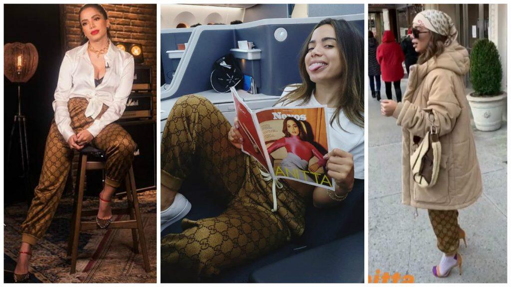 Anitta com Calça Gucci (Fotos: Reprodução/Instagram/@anitta)