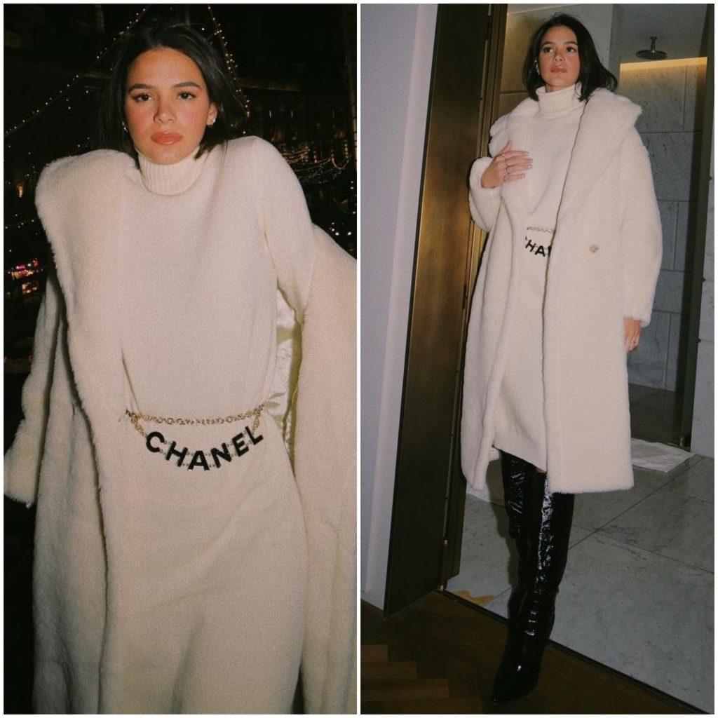 Bruna Marquezine veste casaco de lã de mais de R$ 16 mil