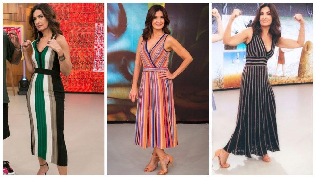 Fátima Bernardes ensina a alongar a silhueta com 3 vestidos