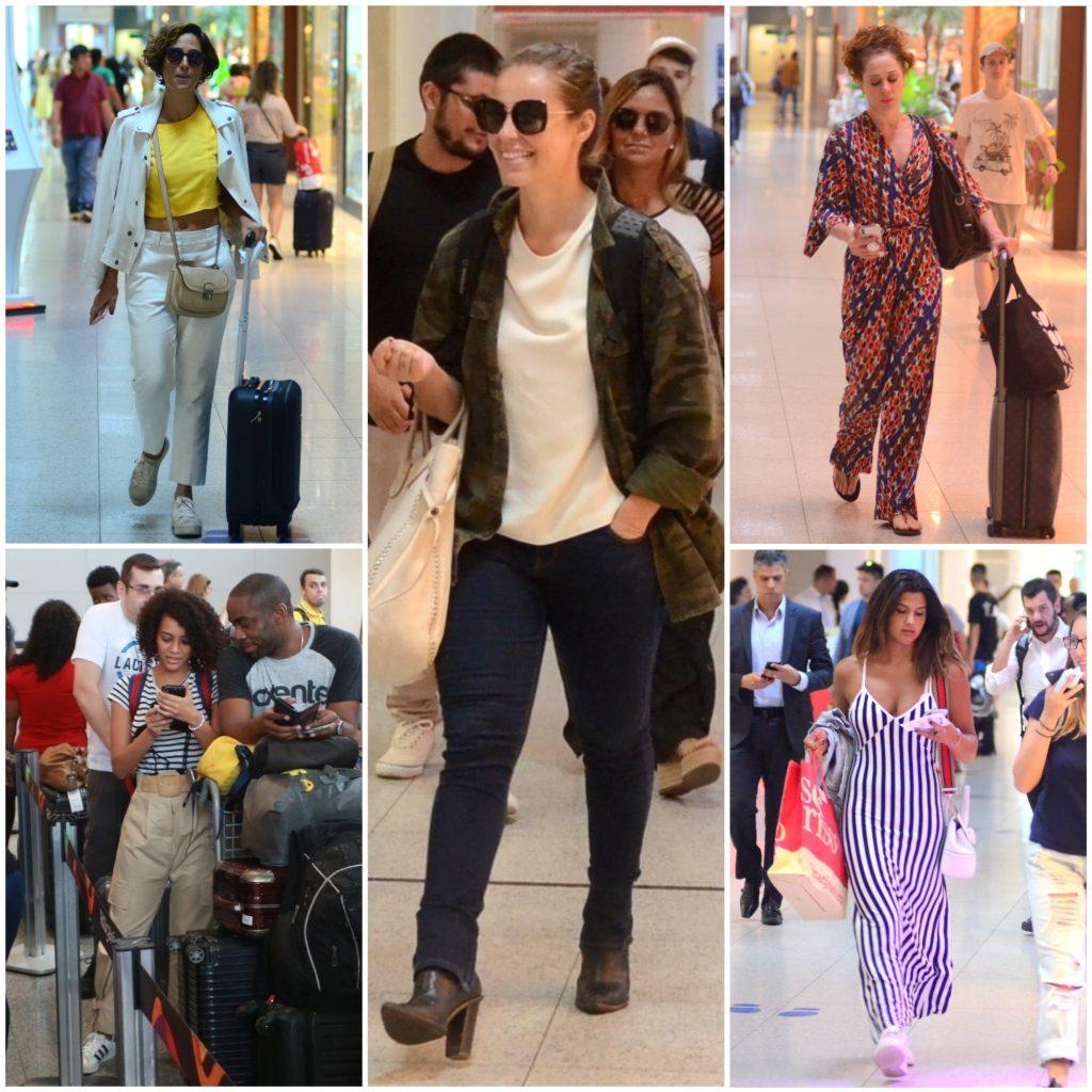 Férias: Famosas aliam conforto e estilo em looks para viajar