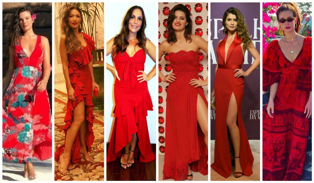 Famosas de vermelho (Fotos: AgNews/Divulgação/Reprodução)