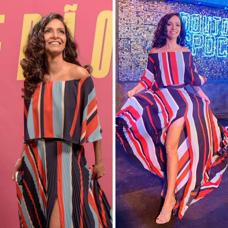 Claudia Ohana (Fotos: Cesar Alves/TV Globo/Divulgação - @ohanareal/Instagram/Reprodução)