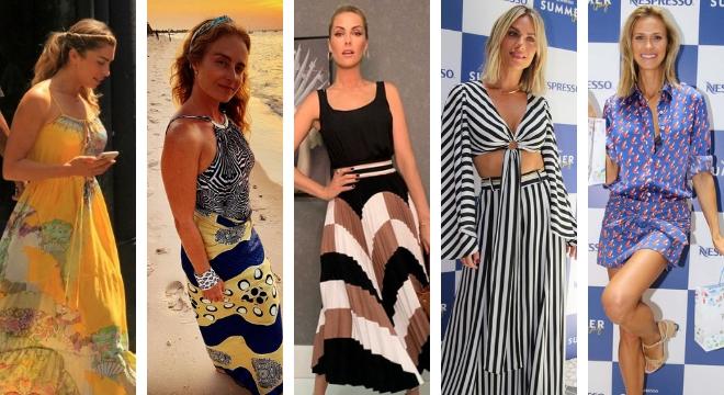 Estampas variadas nos looks das famosas (Fotos: AgNews/Divulgação/Reprodução/Instagram)
