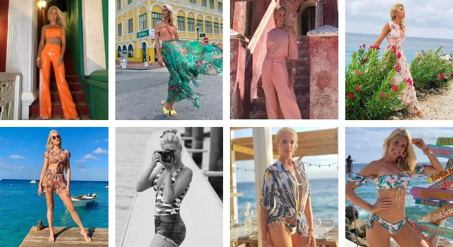 Looks da Ana Hickmann em Curaçao (Fotos: @ahickmann/Instagram/Reprodução)
