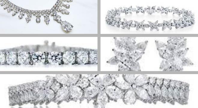 Joias usadas por Lady Gaga no Globo de Ouro (Fotos: Divulgação/Tiffany)
