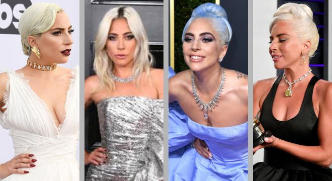 Rainha: conheça as joias de Lady Gaga nos tapetes vermelhos