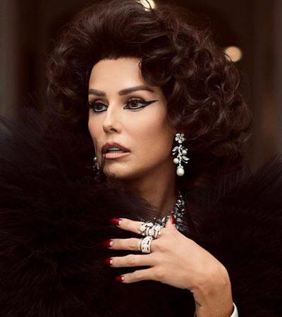 Com peruca preta, Deborah Secco vira Sophia Loren no Copa
