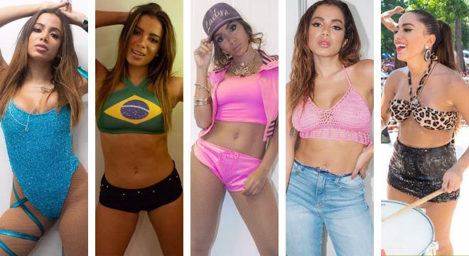 Anitta com looks do Carnaval (Fotos: Reprodução/Instagram/@anitta)