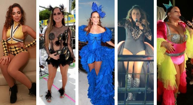 Looks das cantoras no Carnaval de Salvador (Fotos: AgNews)