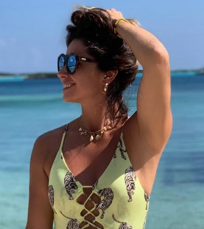 001ee423c6 Giovanna Antonelli usa body de R  220 com estampa de tigre
