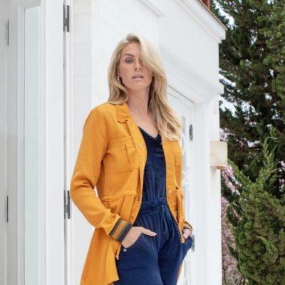 Tonalismo: Ana Hickmann acerta com look azul e amarelo