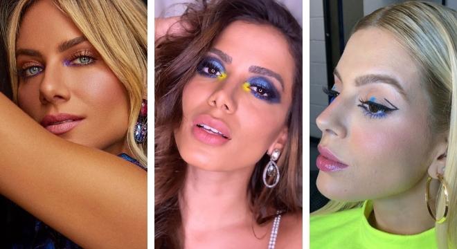 De amarelo a azul: Famosas ensinam a usar sombra colorida