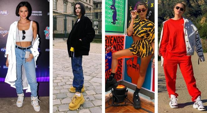 Ugly sneaker conquista famosas (Fotos: AgNews - Instagram/Reprodução)
