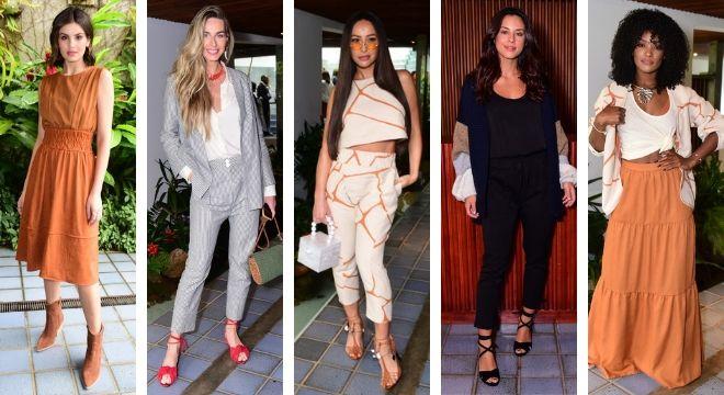 Famosas em evento de moda (Fotos: Leo Franco/AgNews)