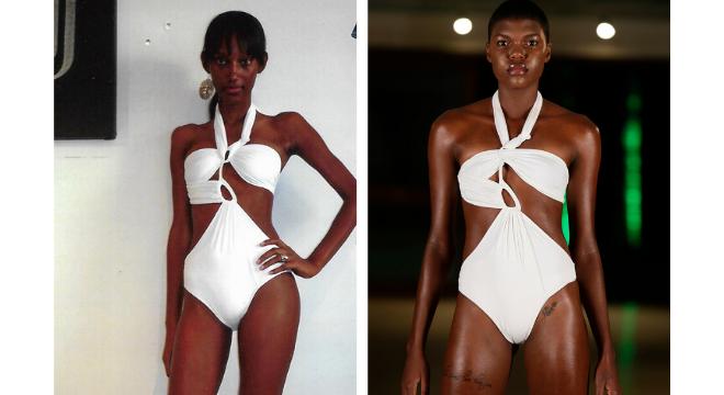 Looks de Amir Slama antes e no Fashion Resort (Fotos: Reprodução/ Marcia Fasoli/Divulgação)