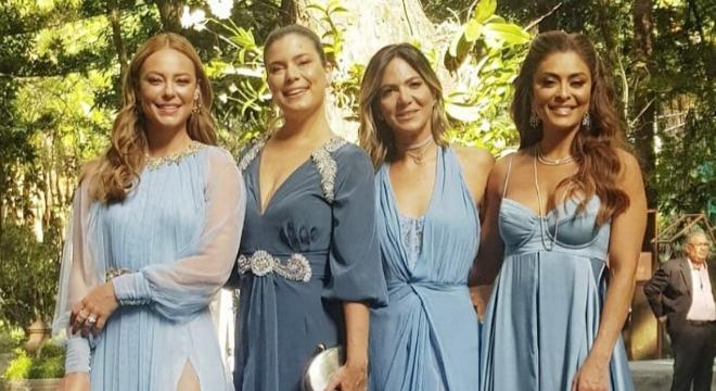 Vivi Guedes e Maria da Paz? Atrizes vestem azul em casamento