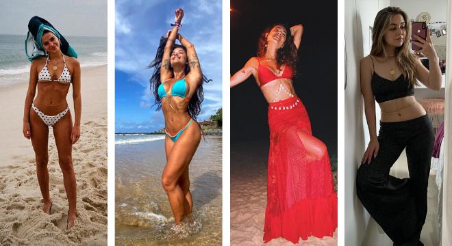 Celebridades mostram formas de usar body chain (Reprodução/Instagram)
