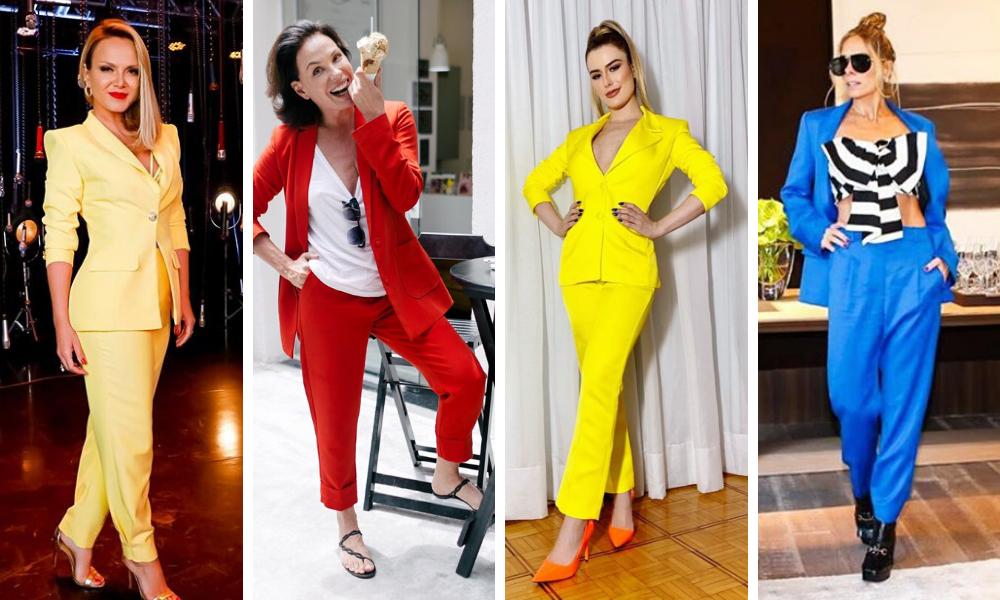 Famosas de terno colorido (Fotos: Reprodução/Instagram)