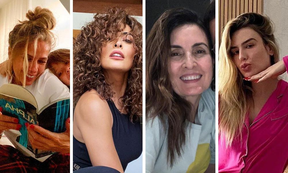 Famosas com cabelos naturais (Fotos: Reprodução/Instagram)
