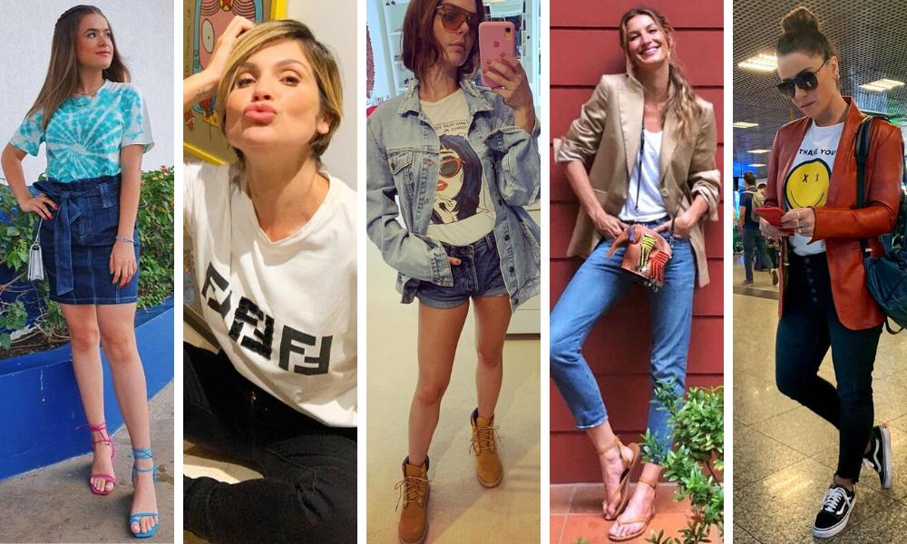 Camisetas das famosas (Fotos: Instagram/Reprodução)