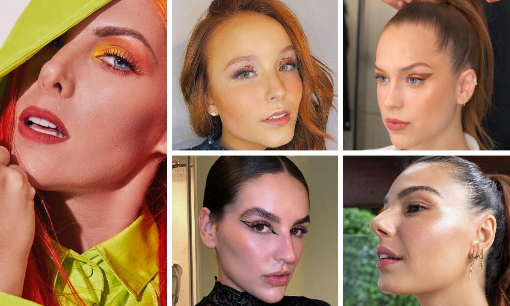Make das famosas (Fotos: Instagram/Reprodução)