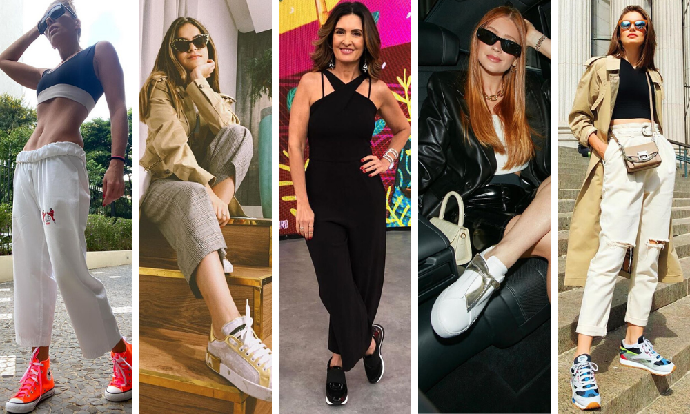 Tênis das famosas (Fotos: Instagram/Reprodução)