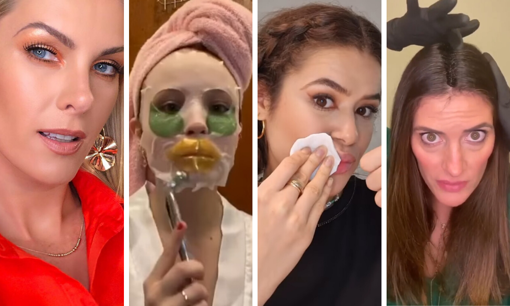 Cuidados de beleza das famosas (Fotos: Instagram/Reprodução)
