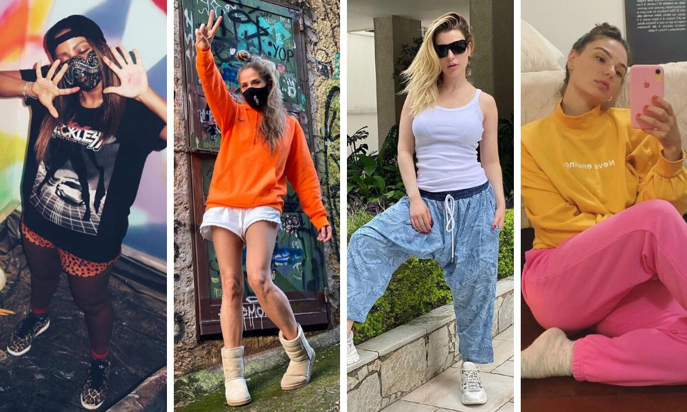 Famosas seguem estilo comfy (Fotos: Instagram/Reprodução)